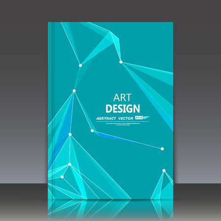 medley: Abstract composition, polygonal construction, connecting dots and lines, a4 brochure title sheet, space background, laser light rays surface, neon star movement backdrop