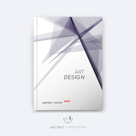 Abstract composition, transparent font texture, triangle section surface, violet lines construction, white brochure title sheet, creative figure vector art, commercial offer, banner form, flyer Ilustrace