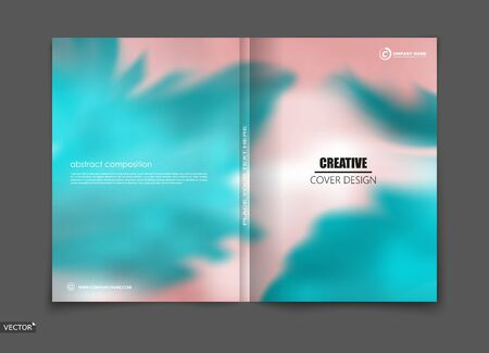 White, blue elegant design for brochure cover, info banner, title sheet. Modern vector front page art with sky clouds theme. Creative azure air figure icon. Fancy composition for flyer or ad text