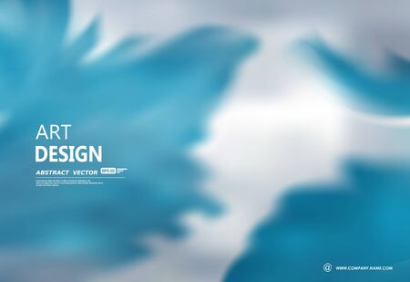 Creative abstract composition in minimalistic fashion. Fancy font design for banner, cover, flyer, ad text fiber, frame, modern website or internet web page. Blue sky icon with elegant clouds