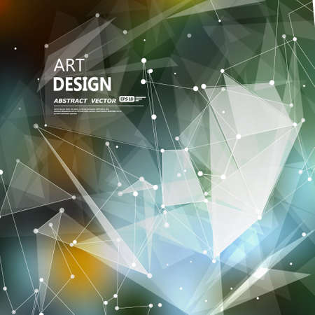 Abstract composition, font texture, white cybernetic dots,   creative figure  banner 向量圖像