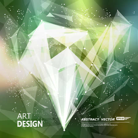 Abstract composition, green font texture, white cybernetic dot, title sequence, wallpaper, creative figure, intro banner form, star, point surface, outer space flyer fiber, neon matrix, EPS10 向量圖像