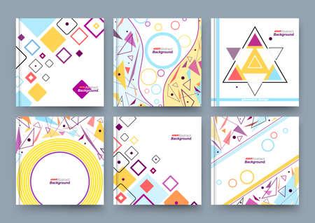 Abstract composition, business card set, info text, elegant geometric shape, triangle, lozenge font texture, brochure title sheet, creative figure icon, flyer fiber, brand trademark, EPS10 banner
