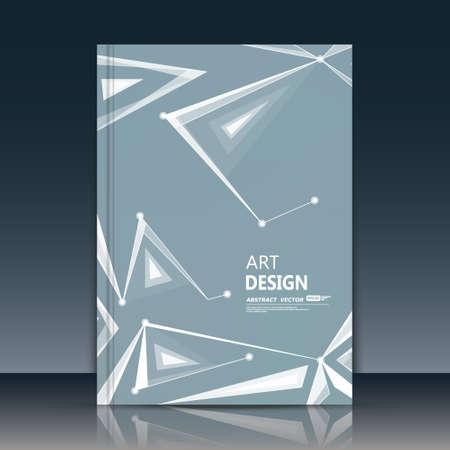 Abstract composition, linking lines font texture, white dots connection, vitrage plexus, gray a4 brochure title sheet, creative figure, logo banner form, flyer fiber, elegant surface, EPS10 Logo