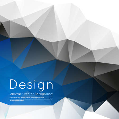 Abstract composition, white, blue, grey polygonal wallpaper, creative figure surface, crystal facet,   screen saver, banner