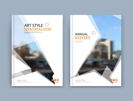 Abstract a4 brochure cover design. Text frame surface. Urban city view font. Title sheet model set. Modern vector front page. Brand . Info banner texture. Triangle figure icon. Ad flyer fiber