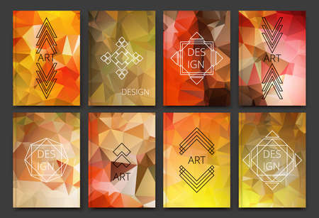 Abstract composition, polygonal background, triangle connecting construction, a4 brochure title sheet, logo basis, geometric firm sign, crystal face shine, elegant surface, EPS 10 vector illustration