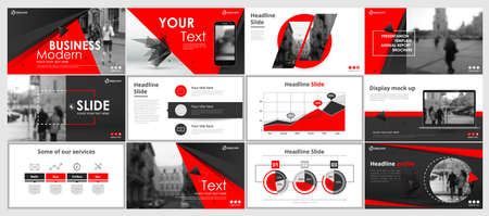 Abstract white, red, slides. Brochure cover design. Fancy info banner frame. Creative set of infographic elements. Urban. Title sheet model set. Modern vector. Presentation templates, corporate. Vectores