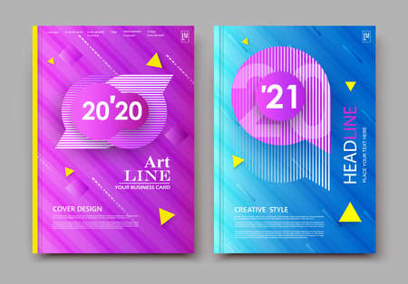 Abstract composition brochure. Text frame surface. Blue, yellow, pink color. Dynamic shapes composition cover design. Triangle textured background in 3D style. Modern geometric form various colors