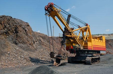 The big dredge in career of iron ore Stock Photo - 5279305