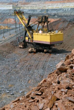 The big dredge in career of iron ore Stock Photo - 5308272