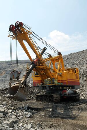 The big dredge in career of iron ore Stock Photo - 5308339