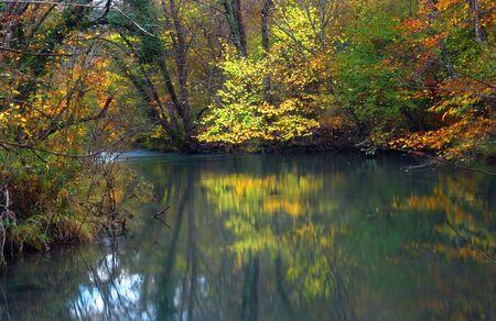reflexion: el ca��n del r�o Negro y la reflexi�n en el agua