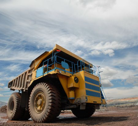 The big truck transport iron ore in career Stock Photo - 5308499