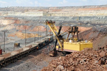 The train in career of iron ore photo