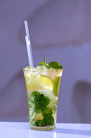 Cocktail mohito with mint and lime on a table Stock Photo - 5308492
