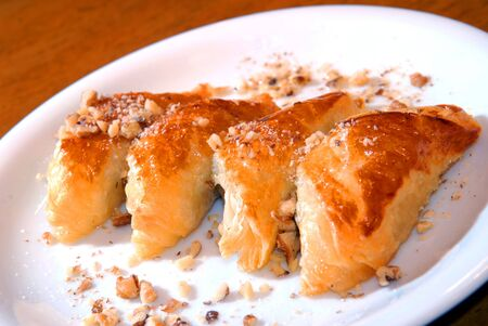 flaky: Pies from flaky pastry with walnuts