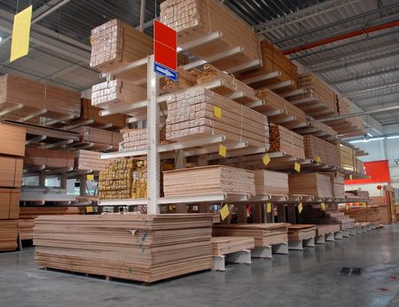 Shop a warehouse of building materials Stock Photo - 5514797