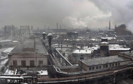 metallurgical: Industrial landscape of metallurgical industrial complex of the heavy industry