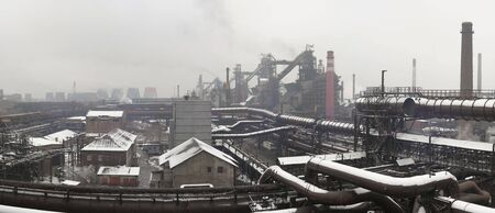 metallurgical: Industrial landscape of metallurgical industrial complex of the heavy industry