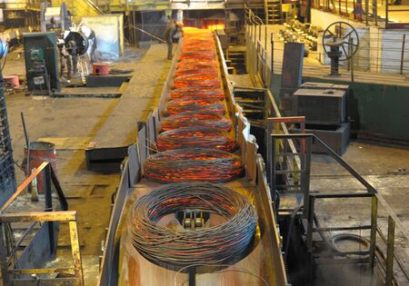 Manufacture of a steel wire at steel factory Stock Photo - 6209489
