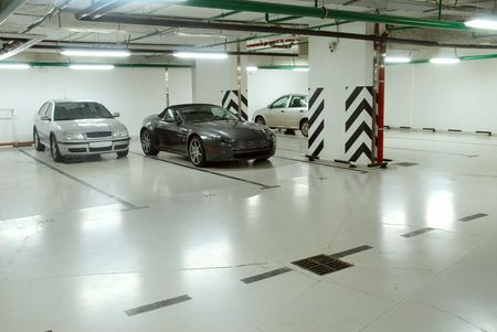 cars parking: Underground parking of cars