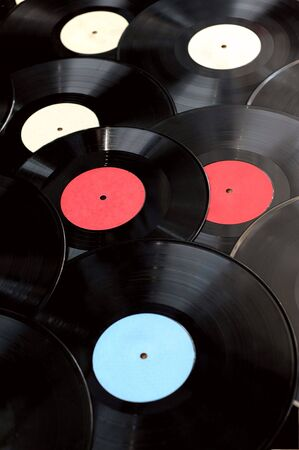 rotations: Background from old vinyl records Stock Photo