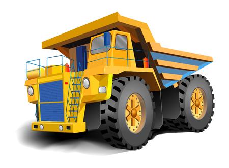 camion volquete: La ilustraci�n de camiones de volcado gran cuerpo