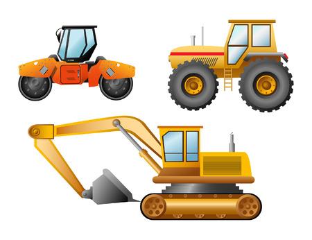 The road building technics Stock Vector - 6959321