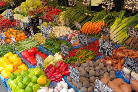 Vegetables on a market show-window Stock Photo - 7868394