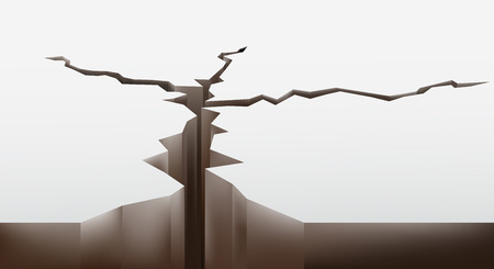 damages: crack in the ground. vector illustration