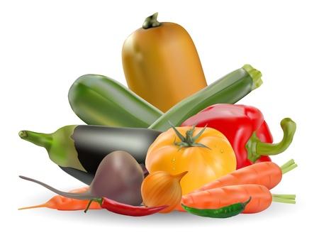 zucchini: colecci�n de verduras