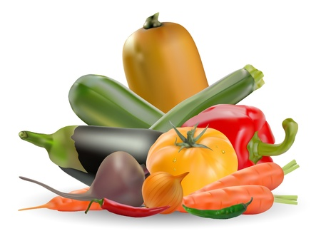 collection of vegetables Stock Vector - 9310735