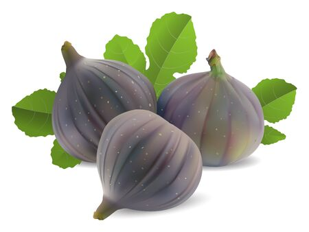 fresh figs on a white background