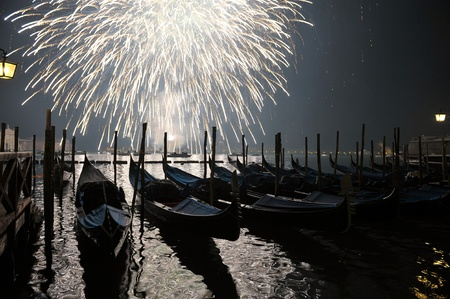 New Years salute in Venice
