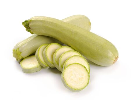 vegetable marrow: courgette on a white background