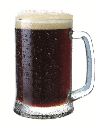 Mug of dark beer on a white background photo