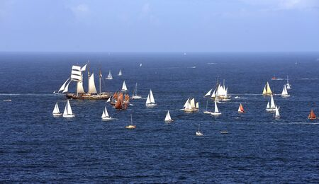afloat: parade of tall ships in the north of France. Brest