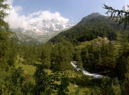 monte: view of the peaks of Monte Rosa