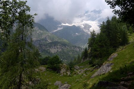 rosa: view of the peaks of Monte Rosa