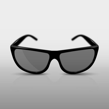 Realistic sunglasses, or 3D glasses for the cinema. With shadow, reflection and focussing effect. 10 eps Çizim