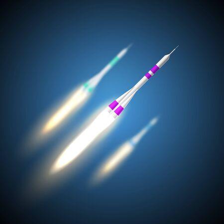 Rocket. Startup. Eps 10