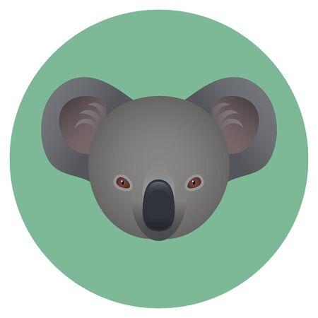 Logo. The head of the Koala. Vector image.