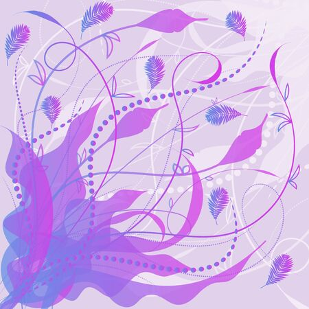Abstract violet floral decorative background. Vector illustration.
