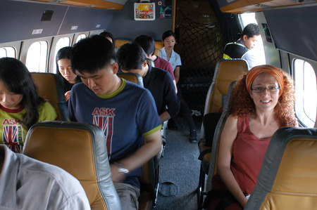 palawan: Aircraft flying in Panay Island between Palawan and Boracay. Editorial