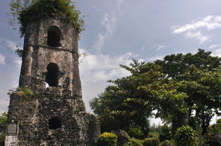 ruins: Cagsawa Ruins Church. Bicol. Southeast Luzon. Philippines.