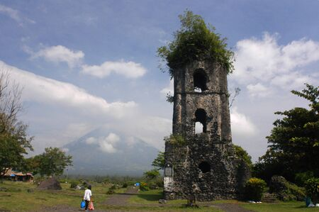 southeast: Cagsawa Ruins Church. Bicol. Southeast Luzon. Philippines.