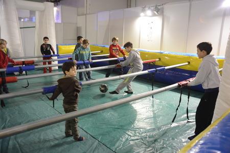 futbol infantil: Festival de los Ni�os ha abierto hoy sus puertas en su 50 edici�n con m�s de un centenar de actividades divertidas para los m�s peque�os repartidos en 43.000 pies cuadrados del Montju�c transitando espera 95.000 personas hasta el 4 de enero.