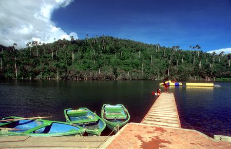 reflektion: Boats in Lago San Juan and El Palmar at the eco tourism community of Las Terrazas, Cuba