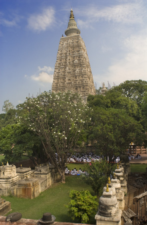 bodhgaya: Bodhgaya, Bihar, India. Mahabodhi Temple In Bodhgaya. The Mahabodhi Temple Complex is one of the four holy sites related to the life of the Lord Buddha, and particularly to the attainment of Enlightenment. The first temple was built by Emperor Asoka in th